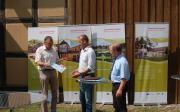 Feierliche Übergabe von Förderschecks am 18. Juli in Apfelstädt